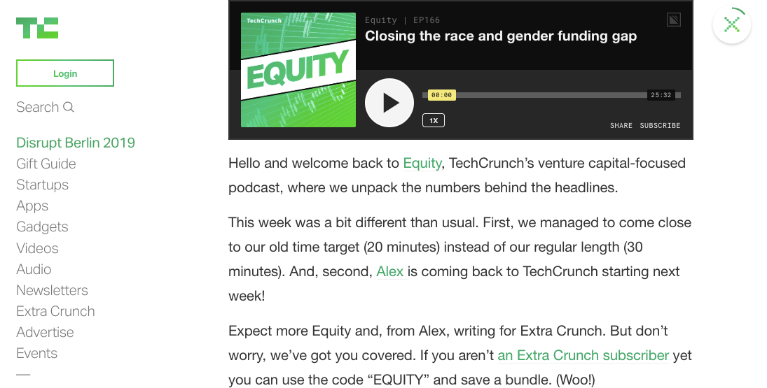 techcrunch equity podcast