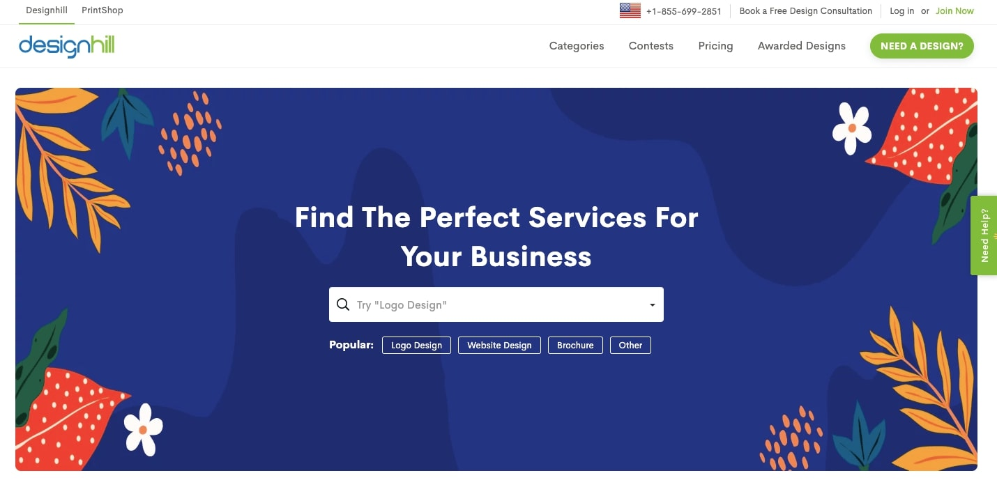 designhill home page