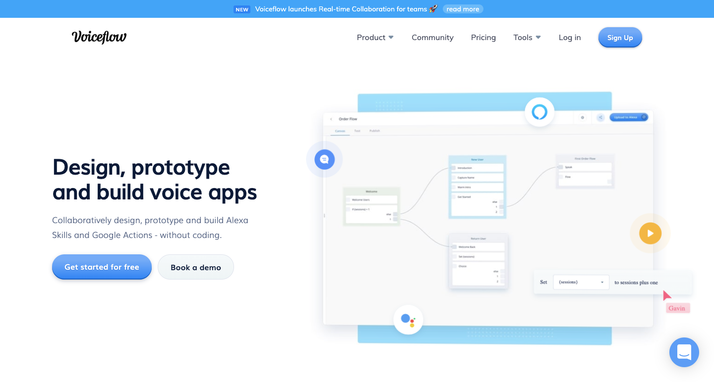 design voice apps with voiceflow