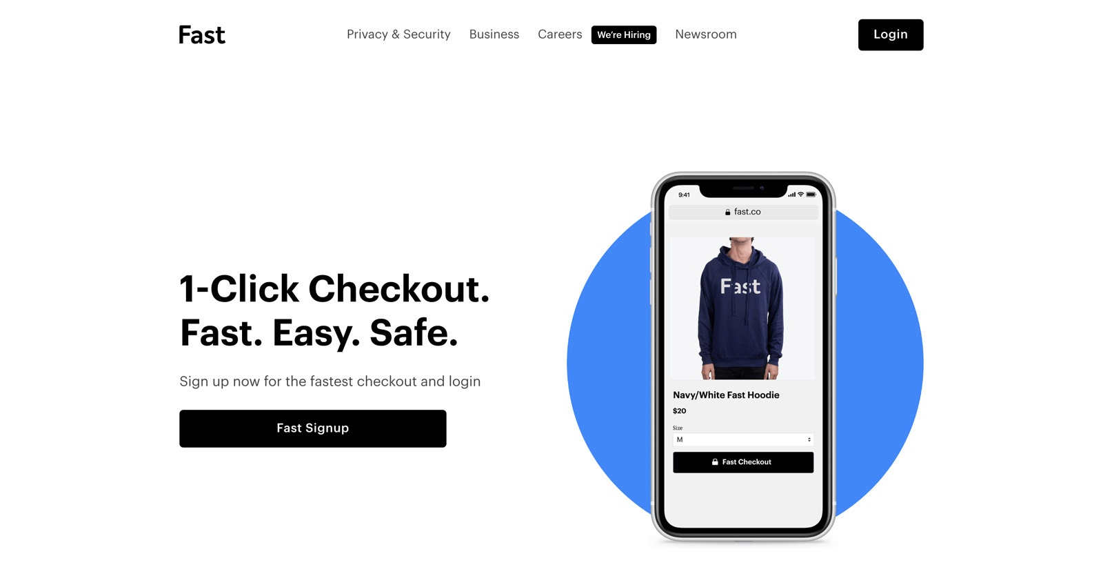 1 click checkout with fast