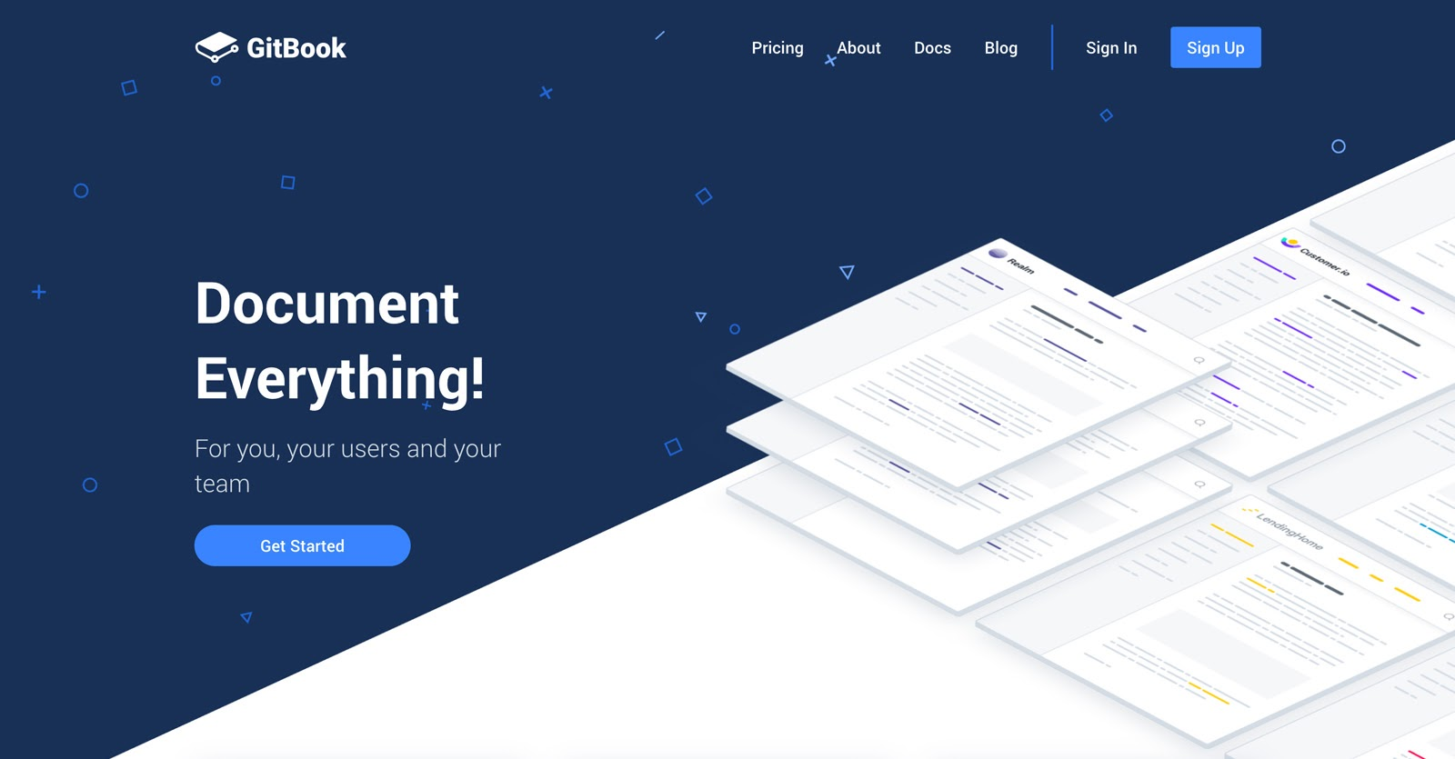 document everything with gitbook