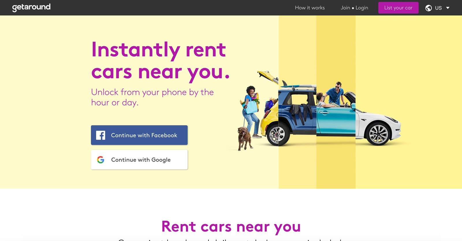rent cars with getaround