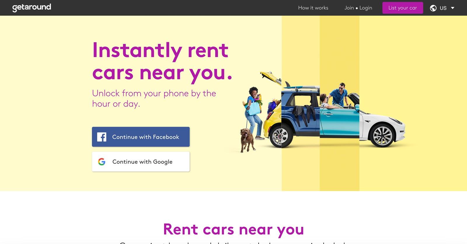 rent cars with getaround