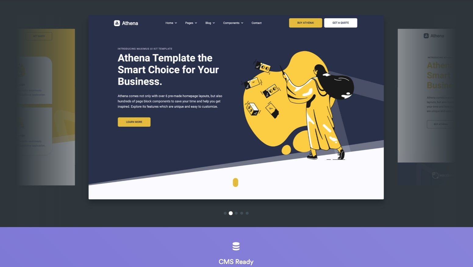webflow athena template