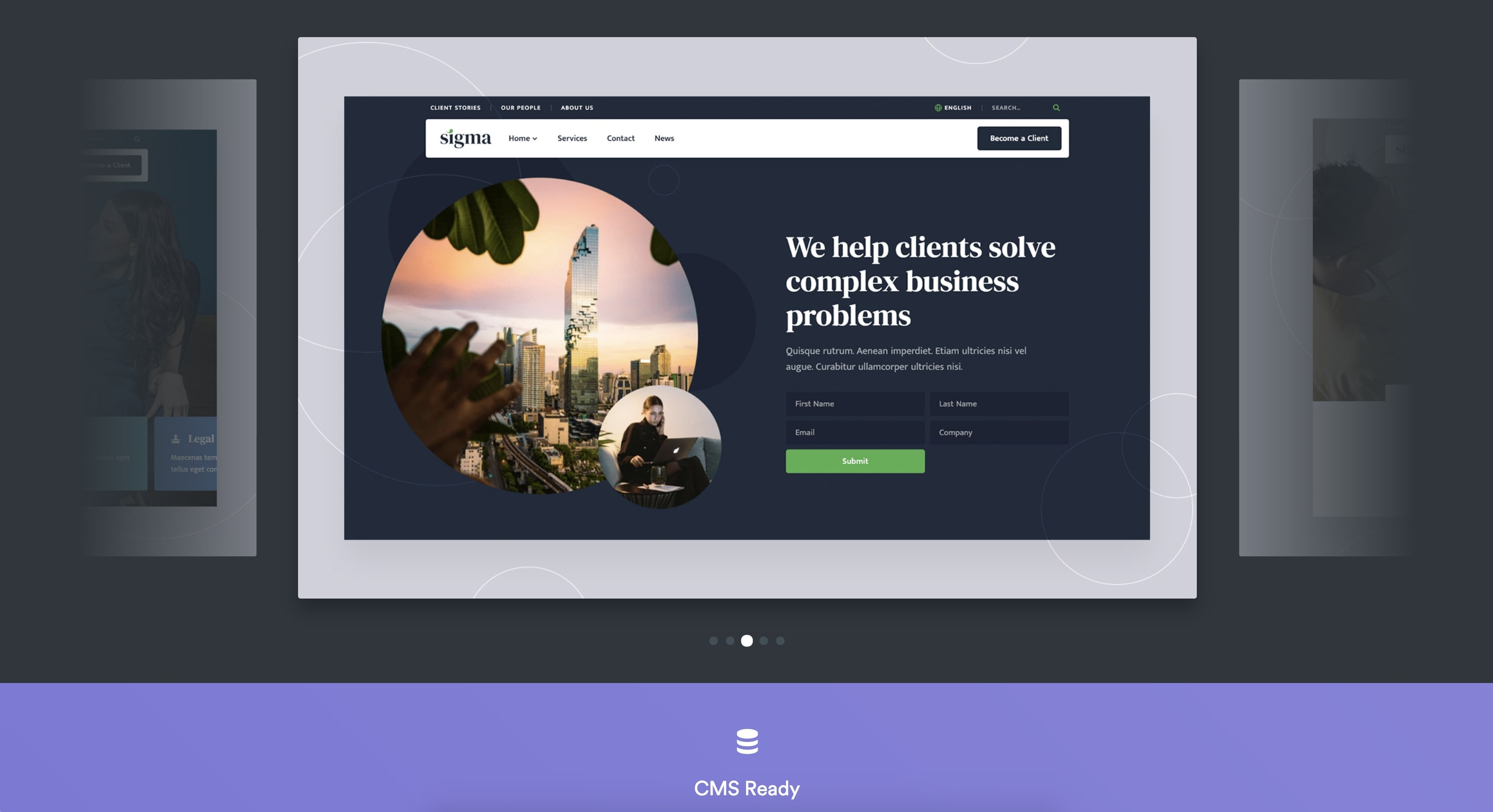 webflow template detail page
