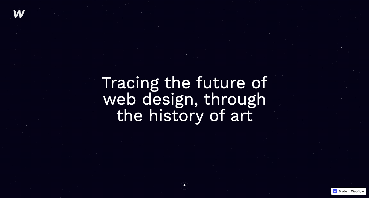 web design art history
