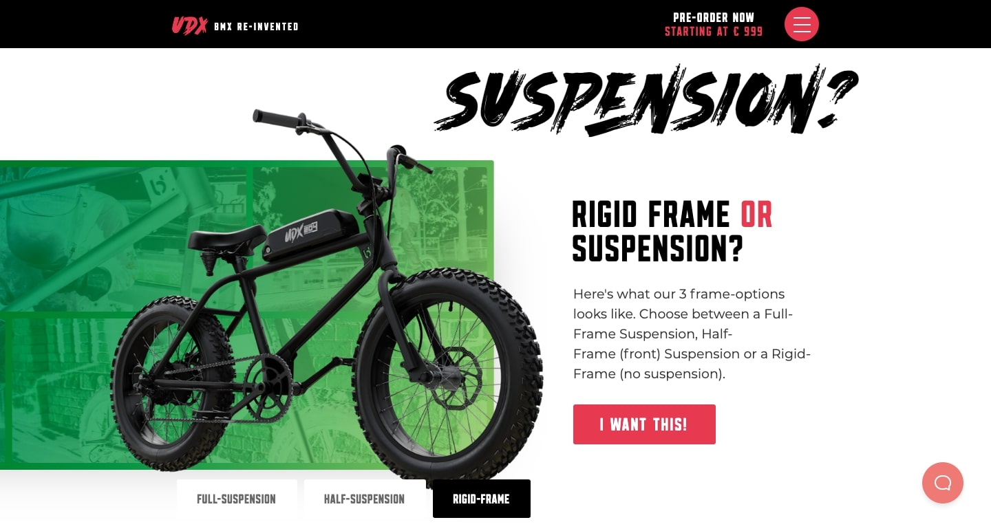 udx bike website