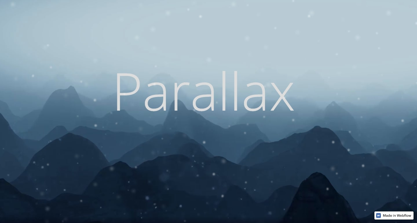 parallax website