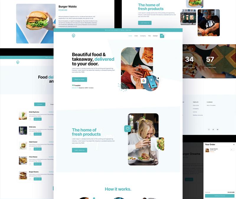 webflow restaurant templates