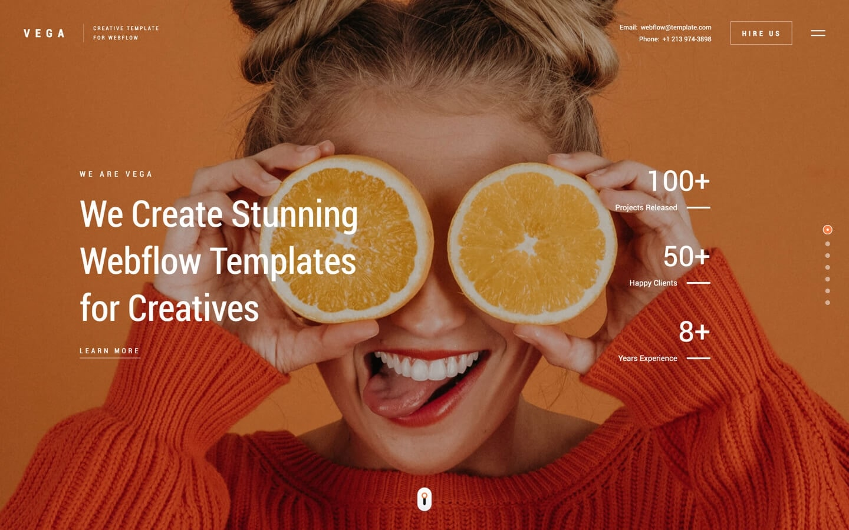 vega webflow template