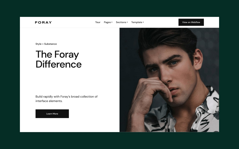 foray webflow template