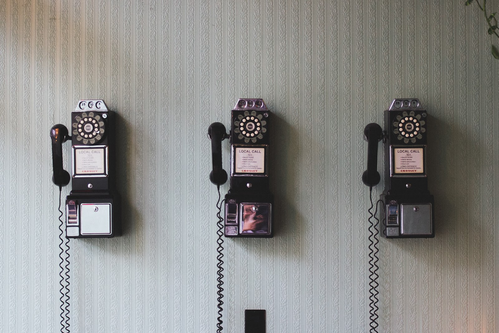 phone booths on wall