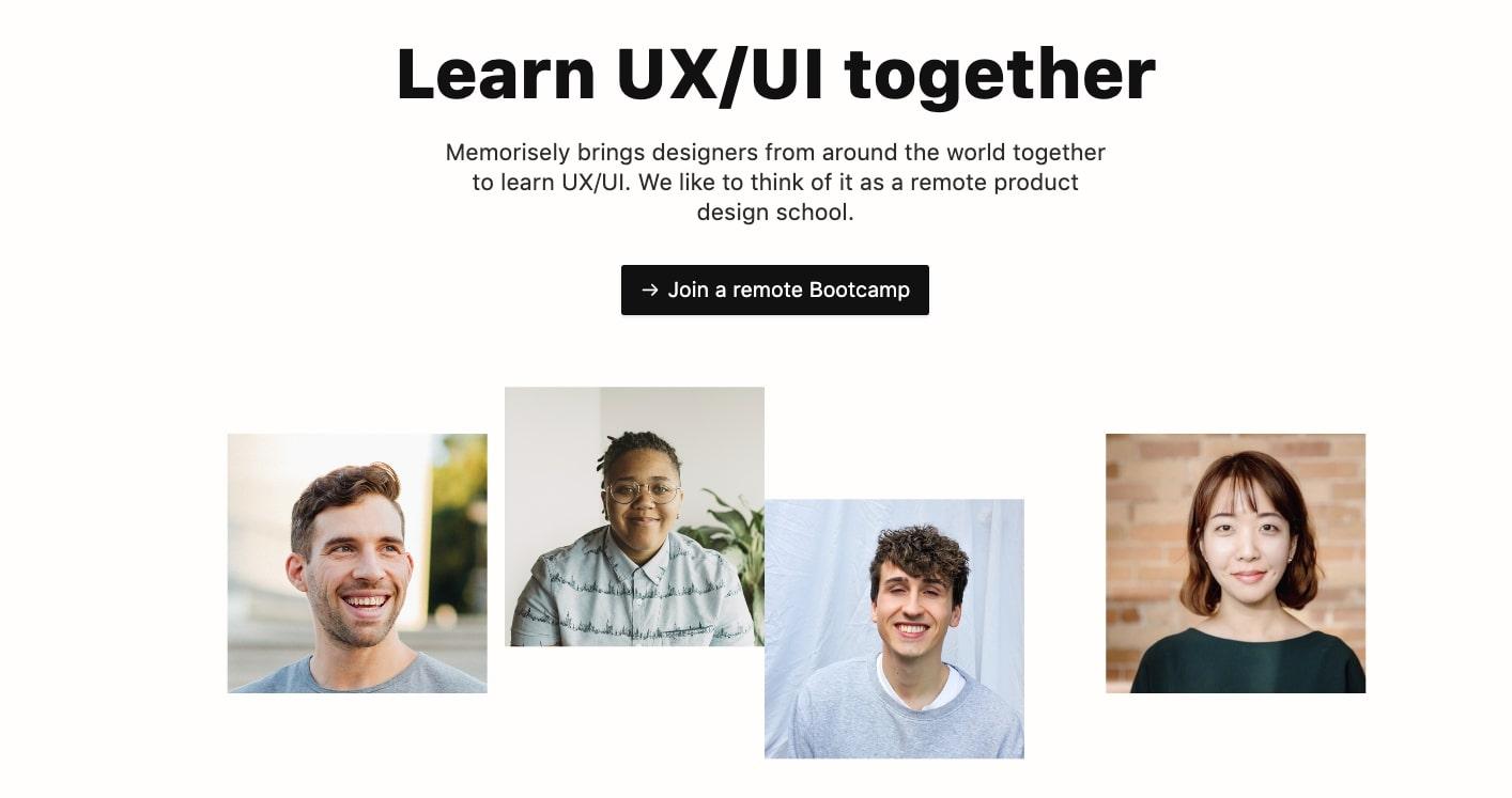 memorisely ux ui bootcamp