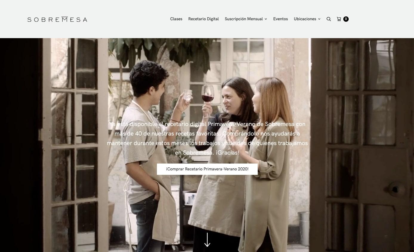sobremesa website