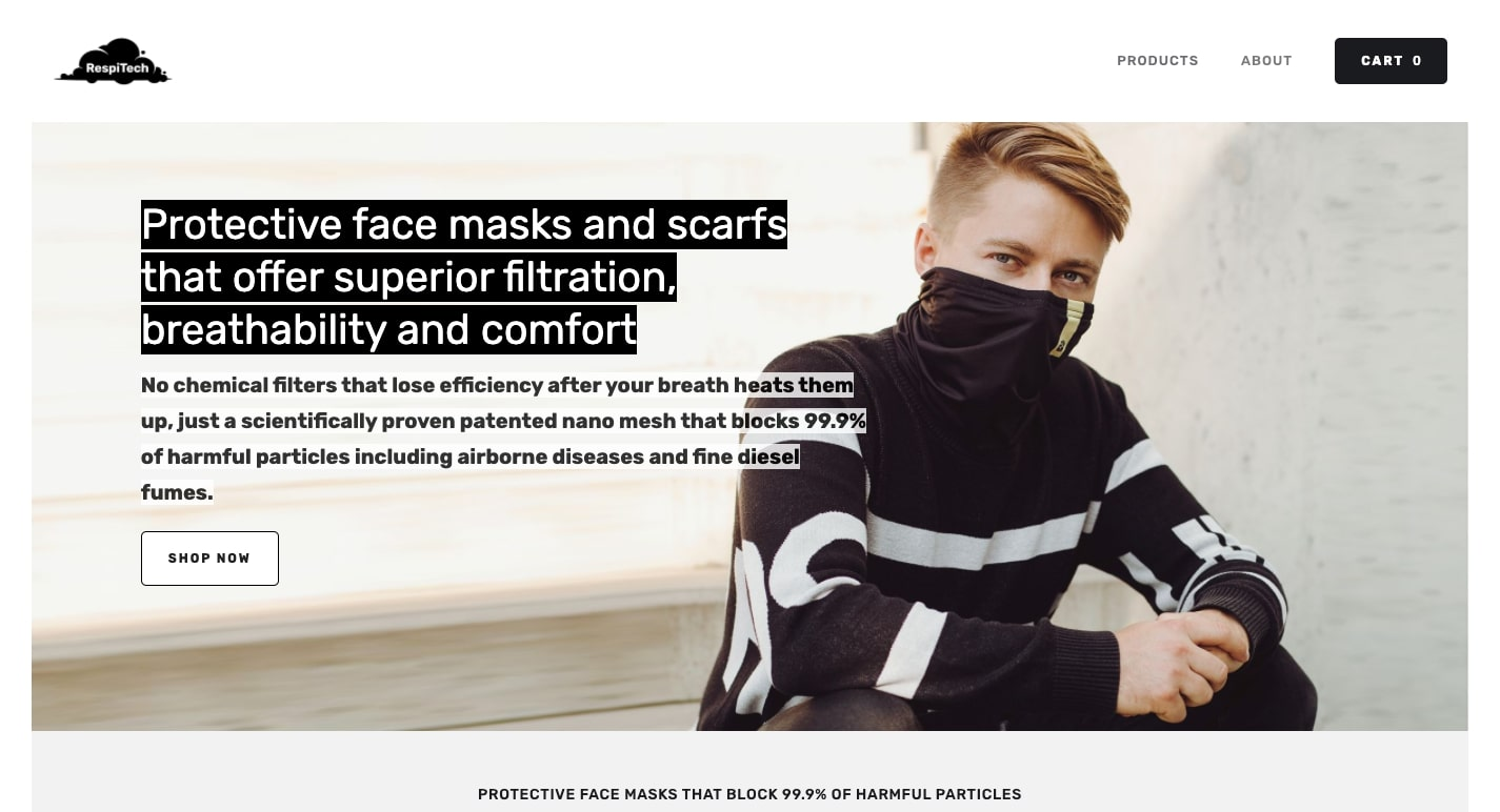 respitech face masks