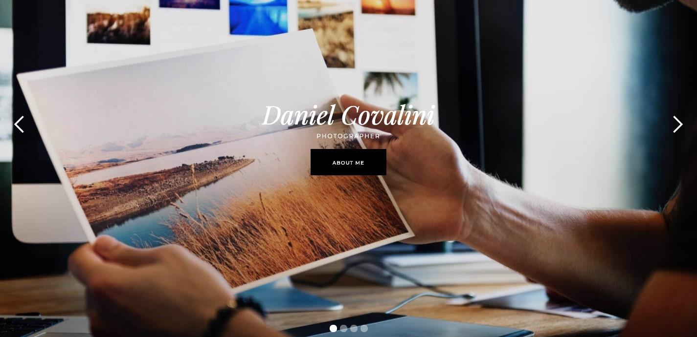 carrete portfolio template