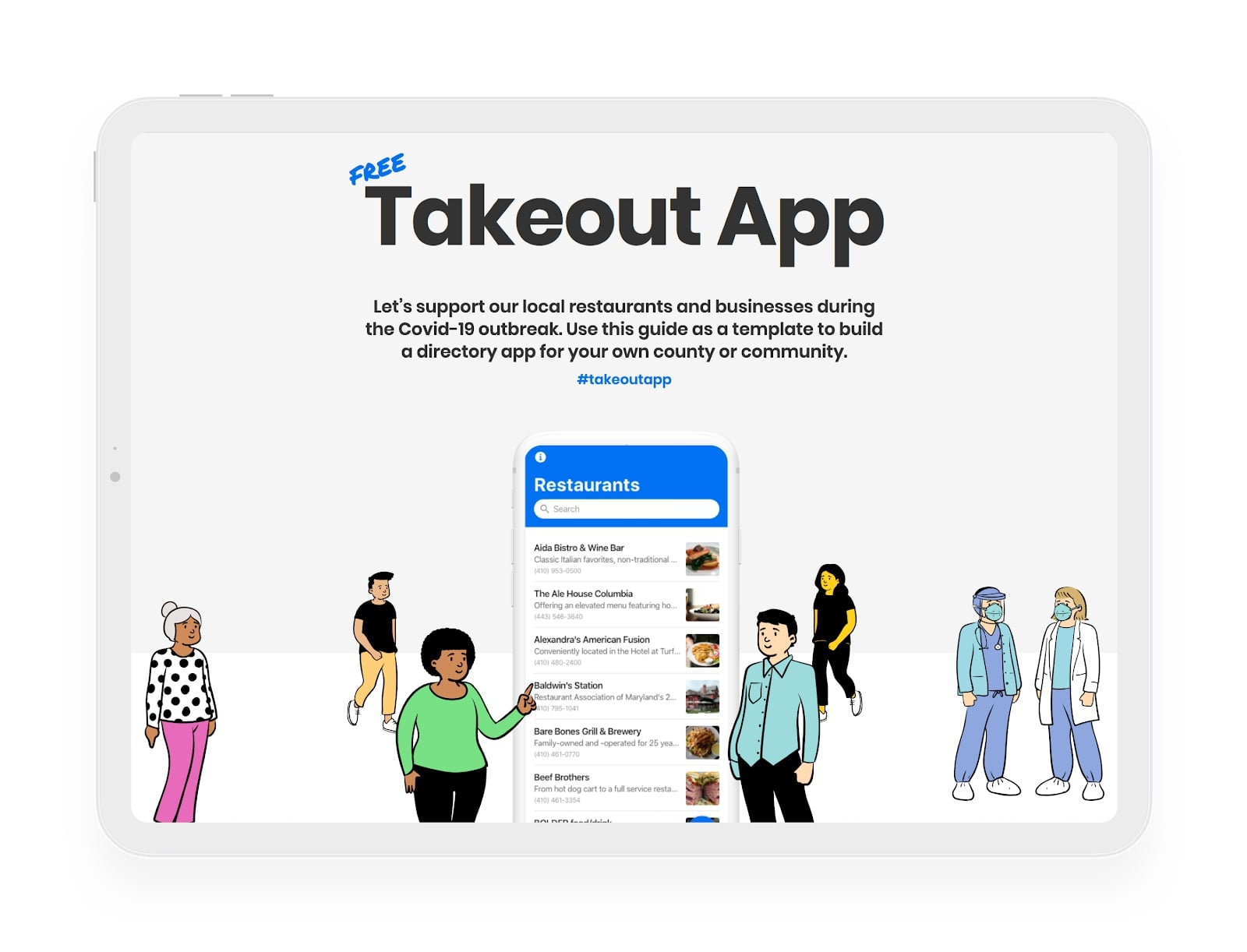 webflow takeout template