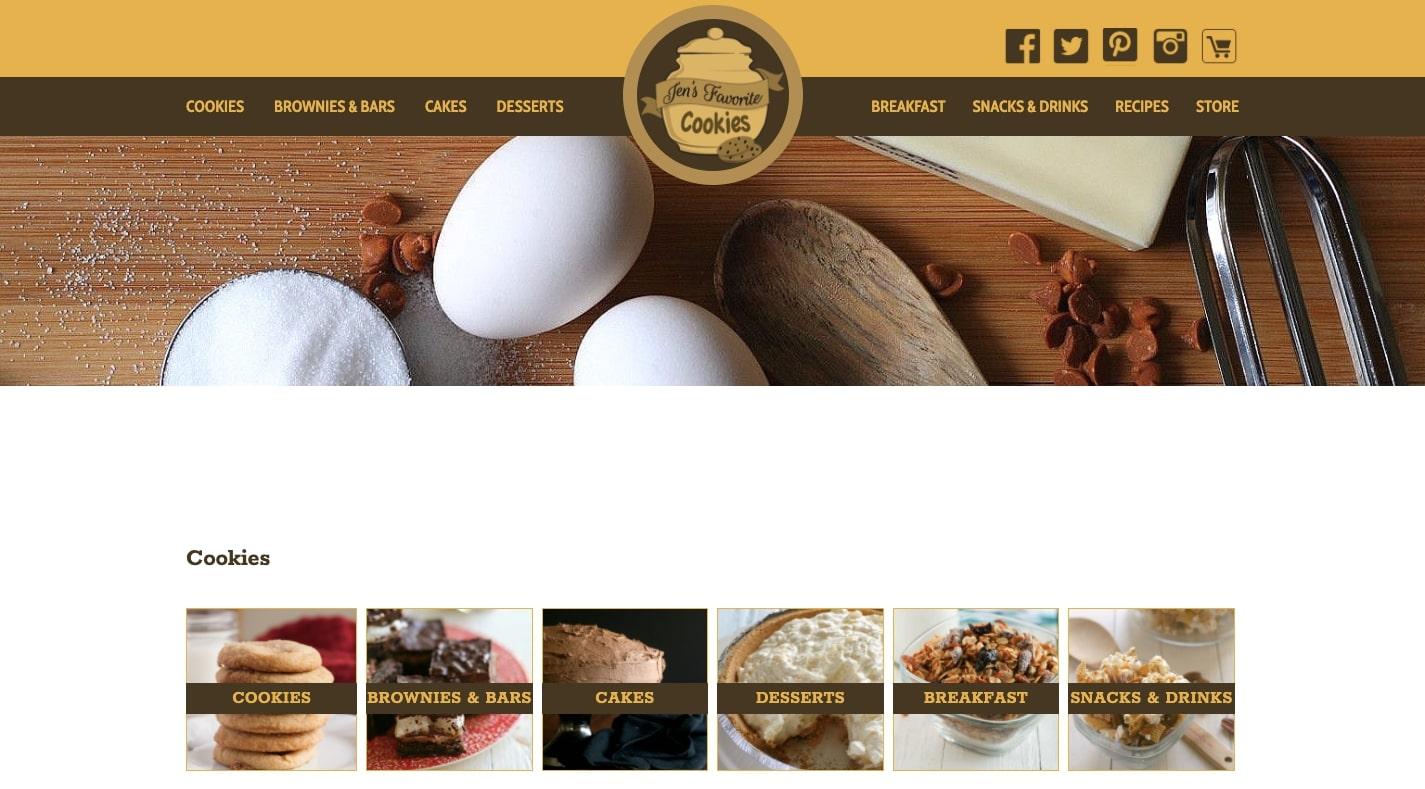 jen's favorite cookies website