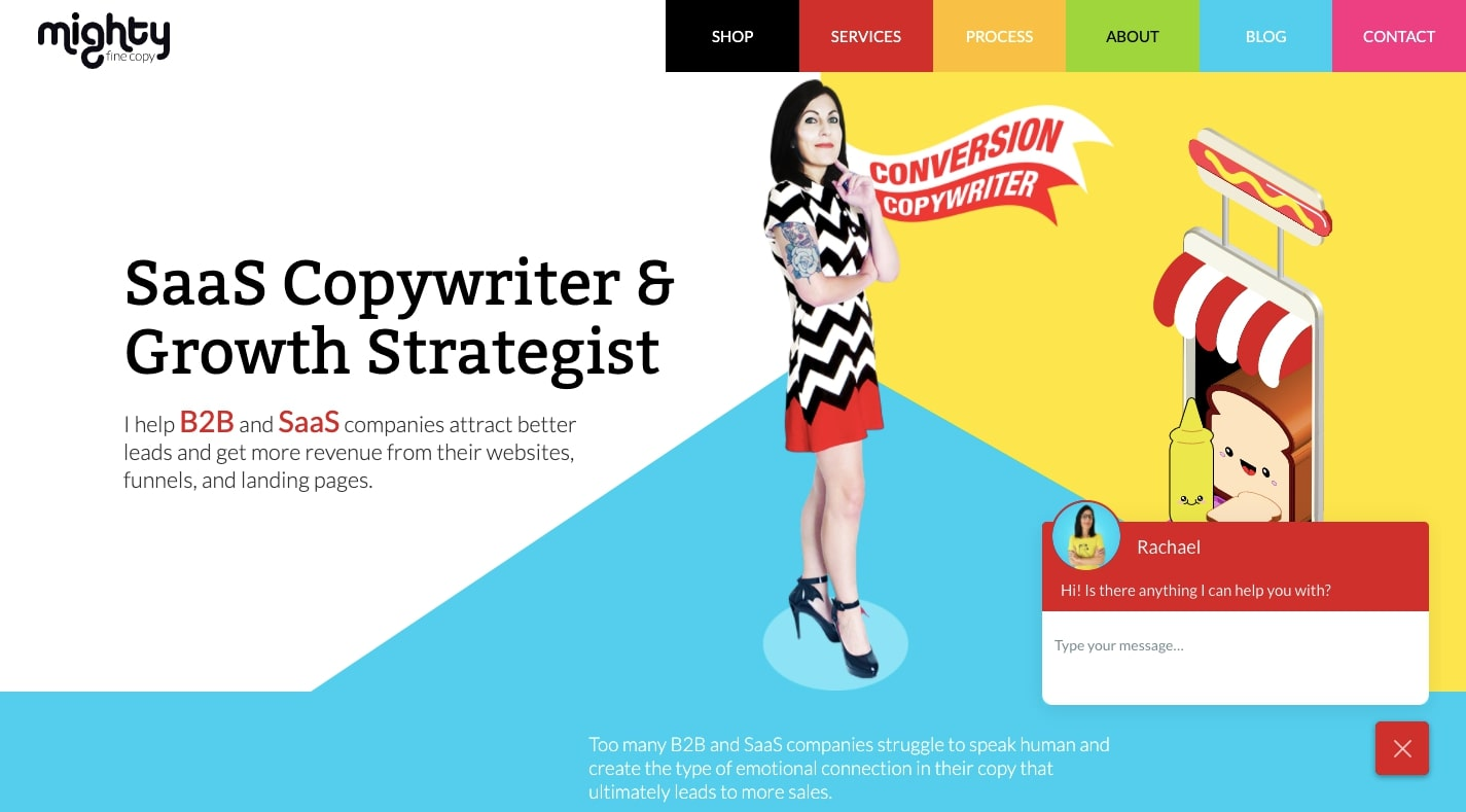 mighty fine copy website