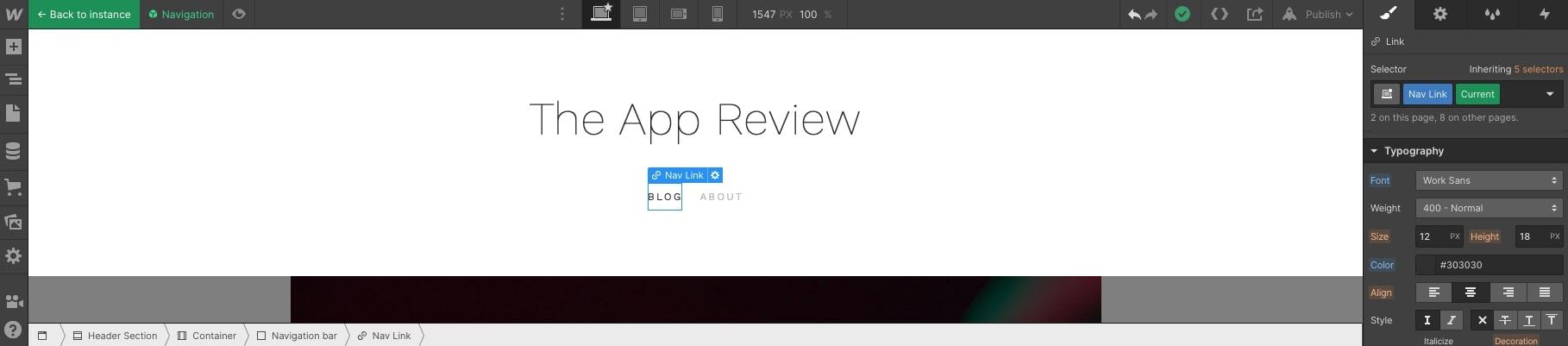 app review font