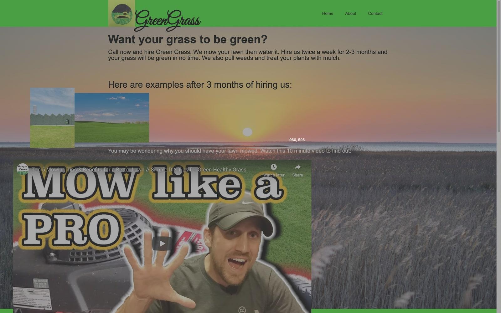 grass mowing business