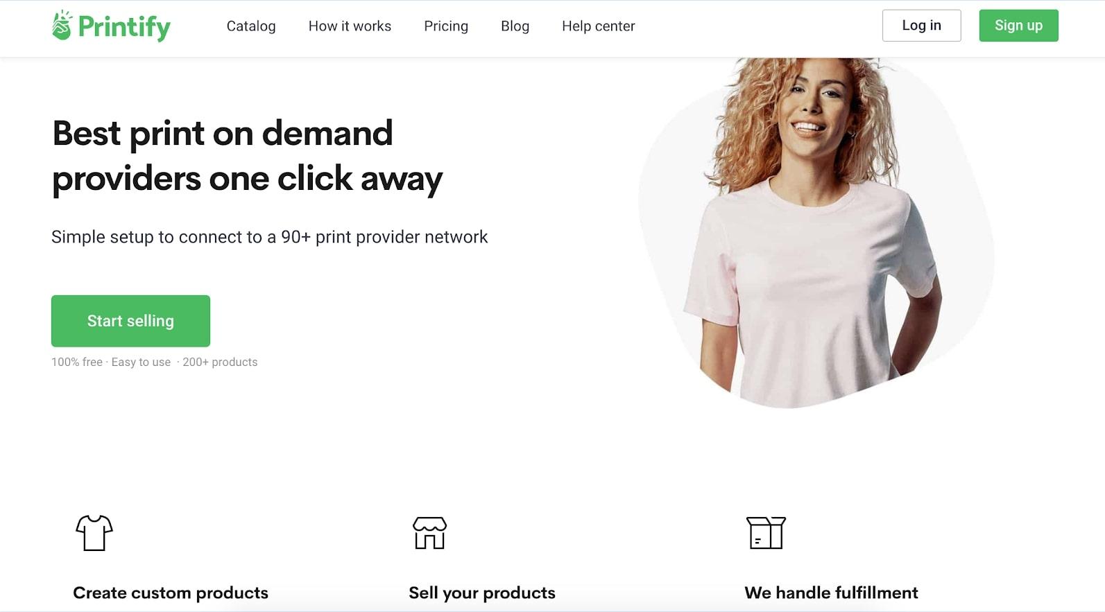 printify's website