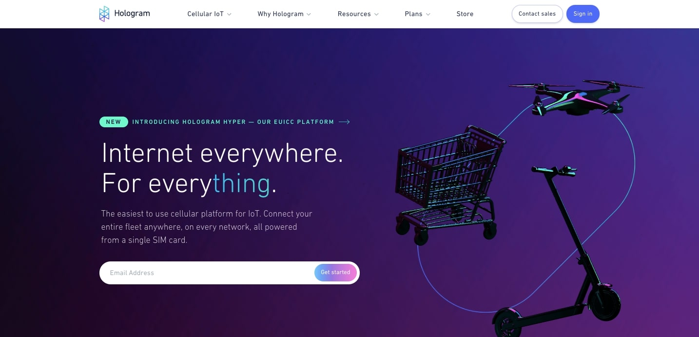 hologram website design