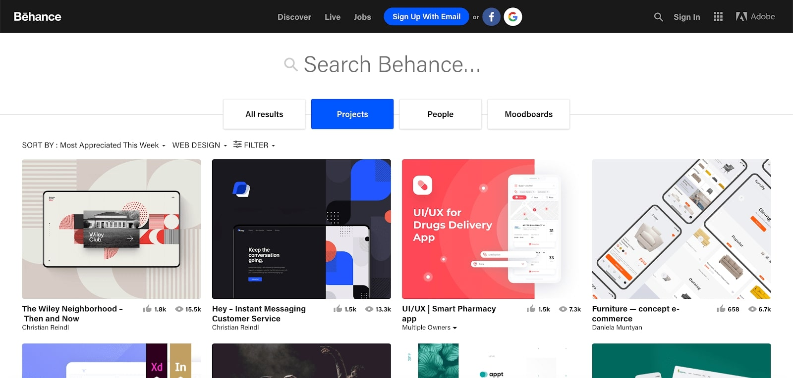 behance discover