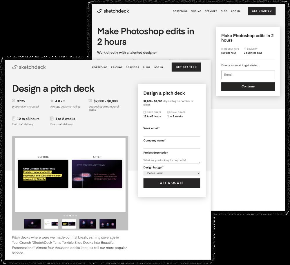 sketchdeck pitch deck templates