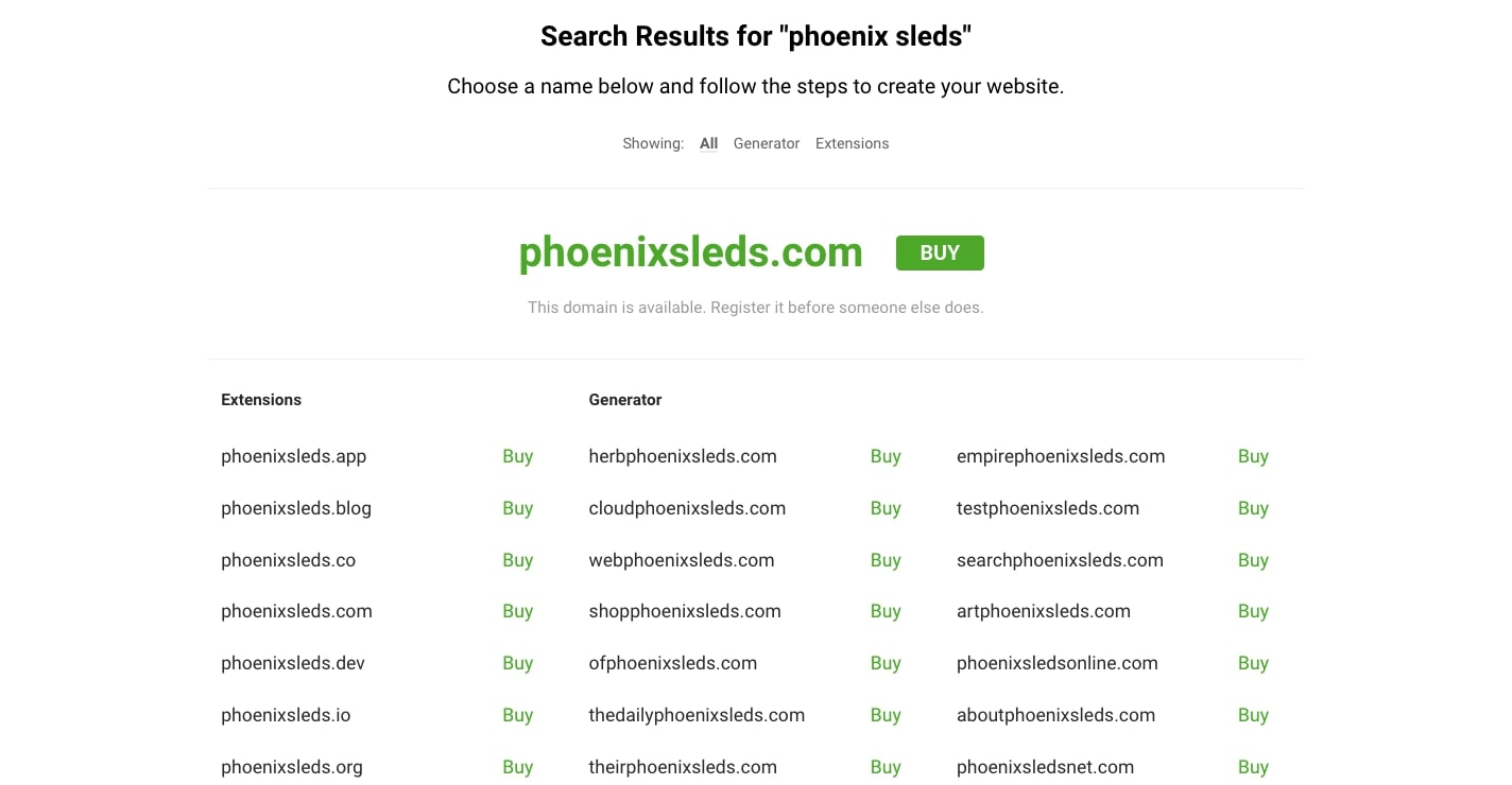 nameboy domain search