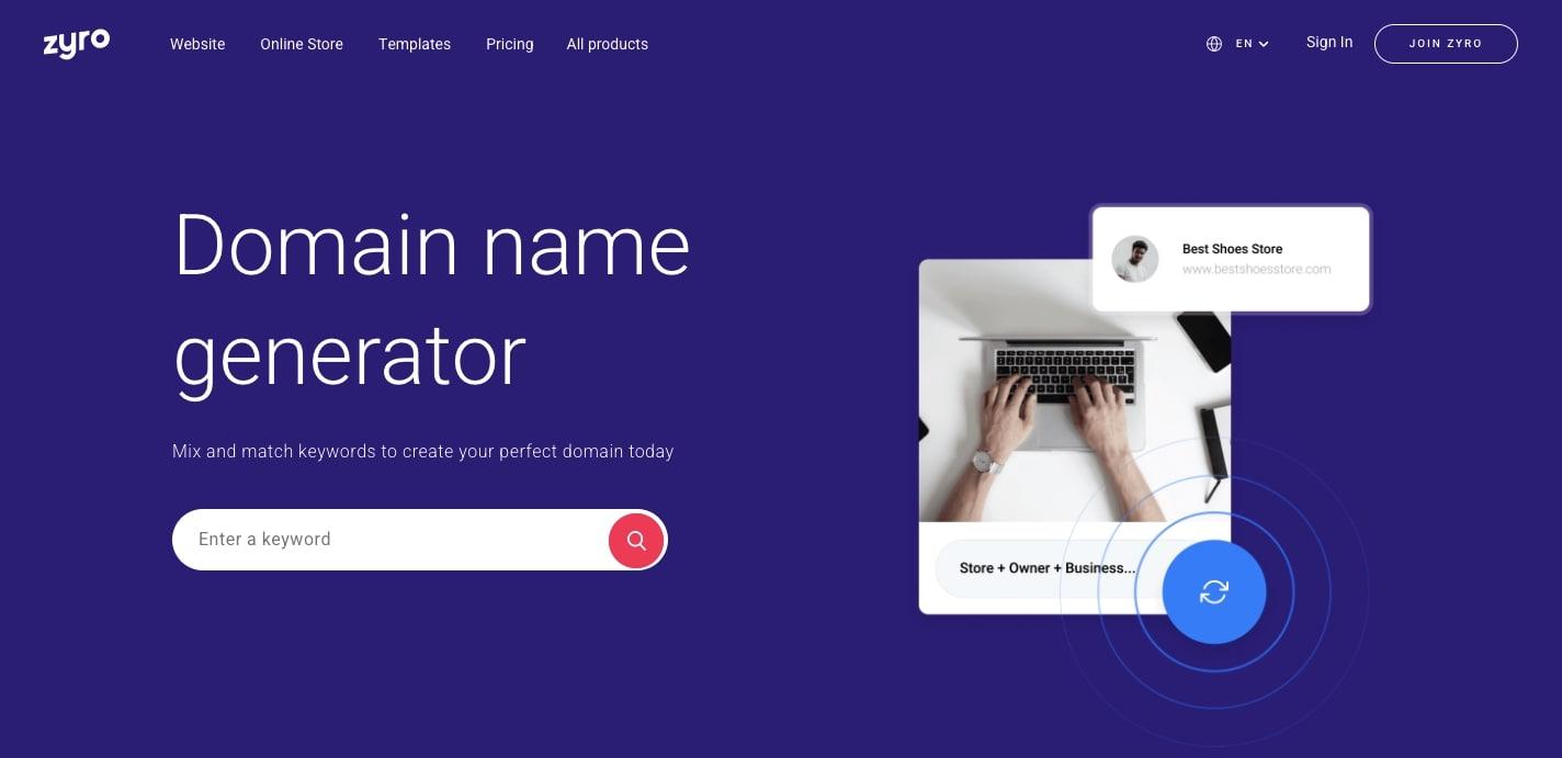 zyro domains