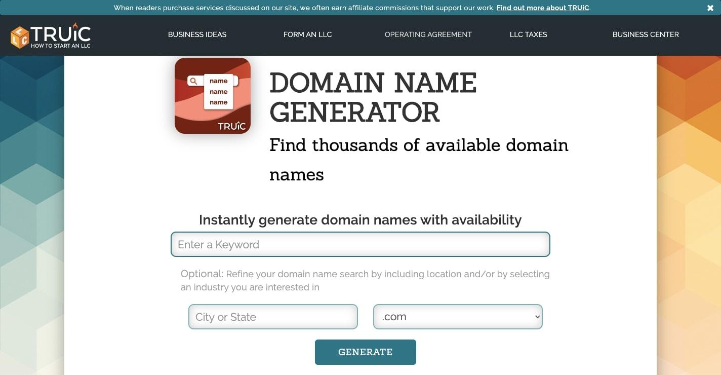 truic domain name generator