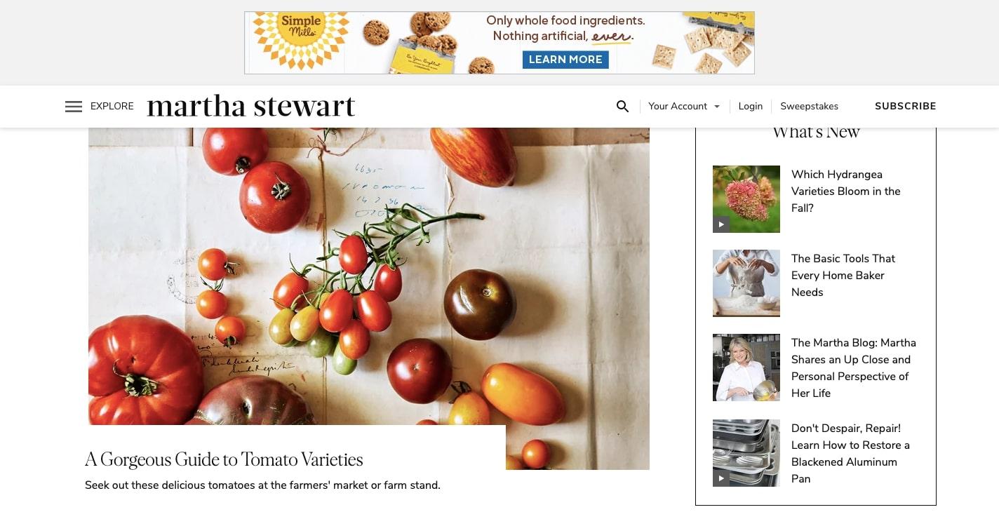 martha stewart's website