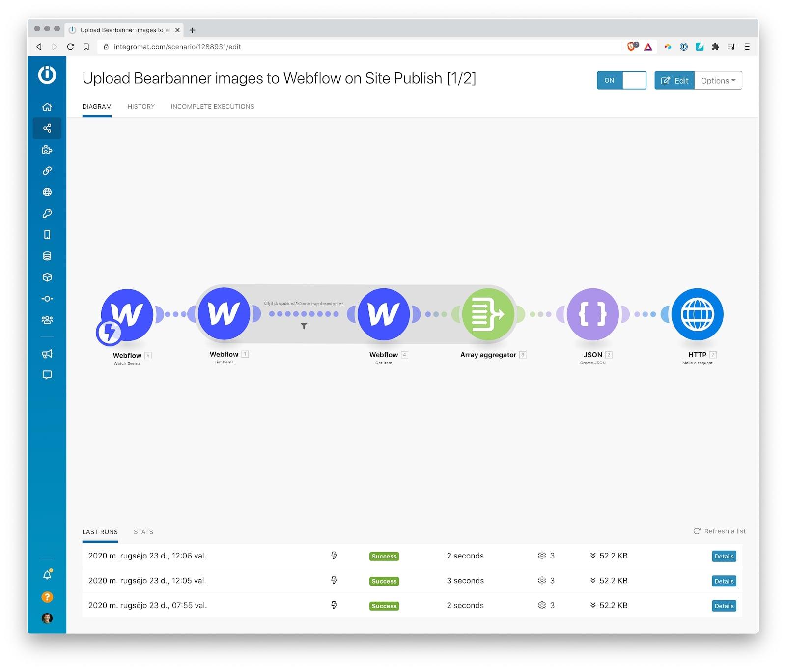 webflow site publish