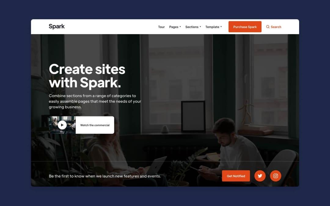 spark webflow template