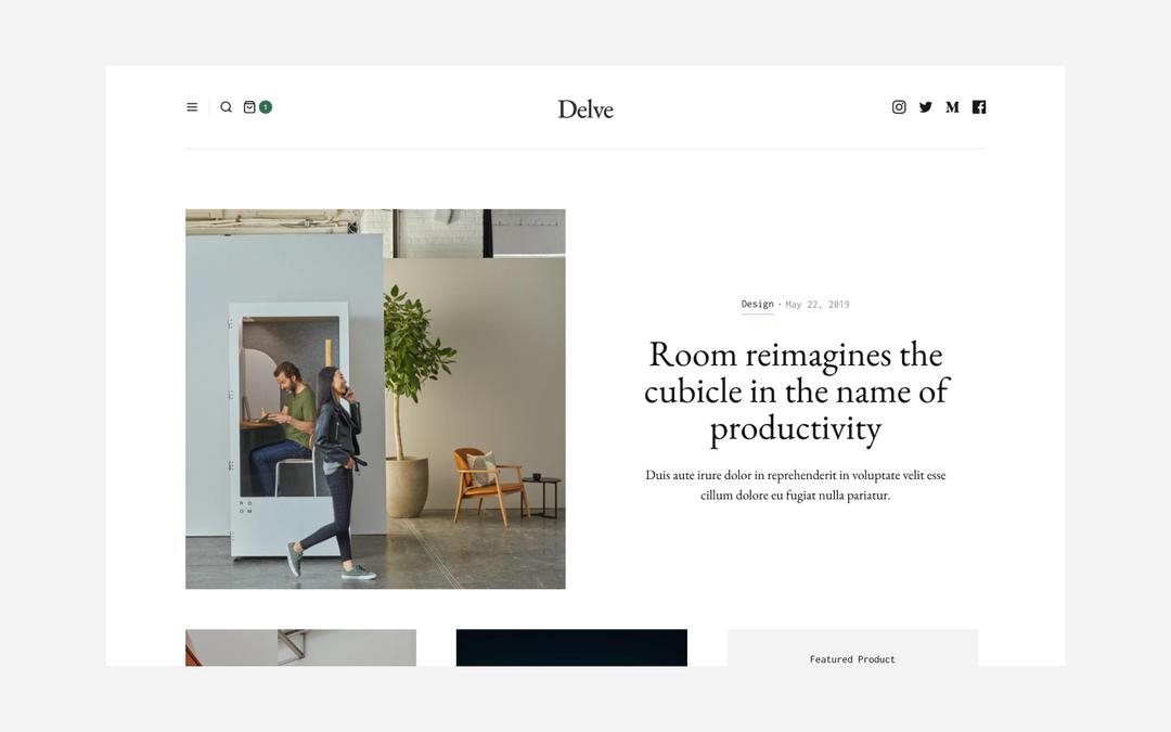 delve webflow template