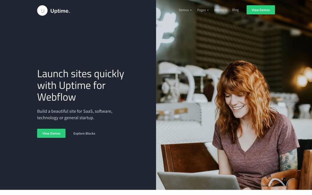 uptime webflow template