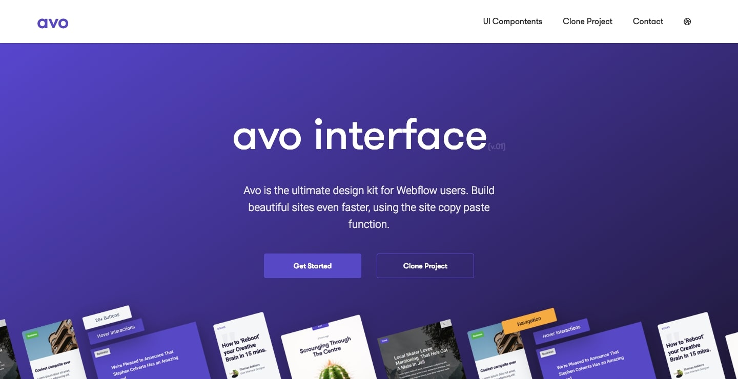 avo webflow ui kit