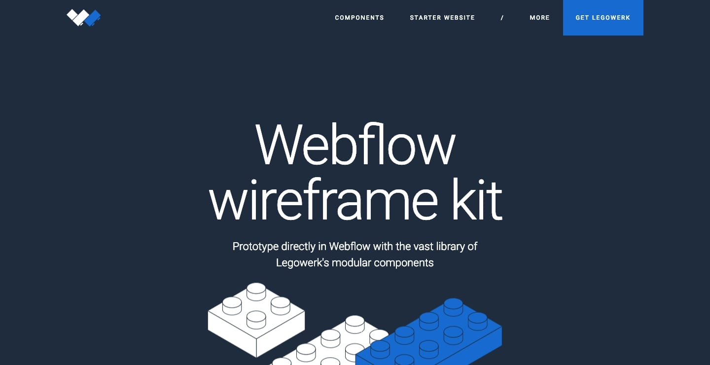 Legowerk Webflow showcase page