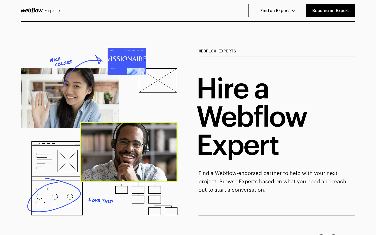 Work with a Webflow-approved Enterprise Partner to make implementation easy.