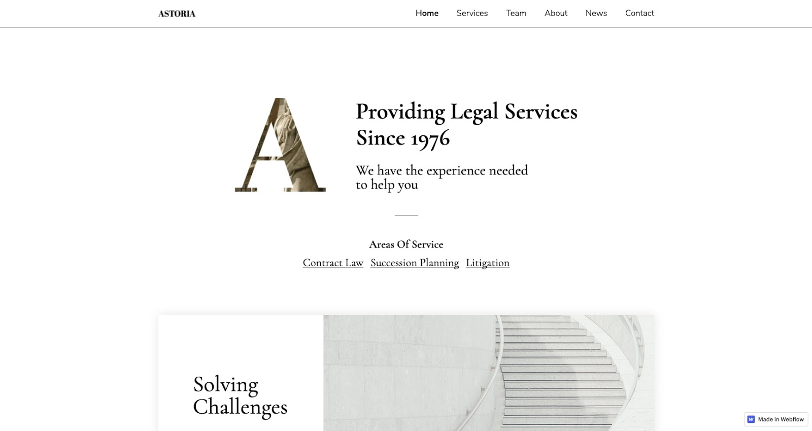 webflow law template free