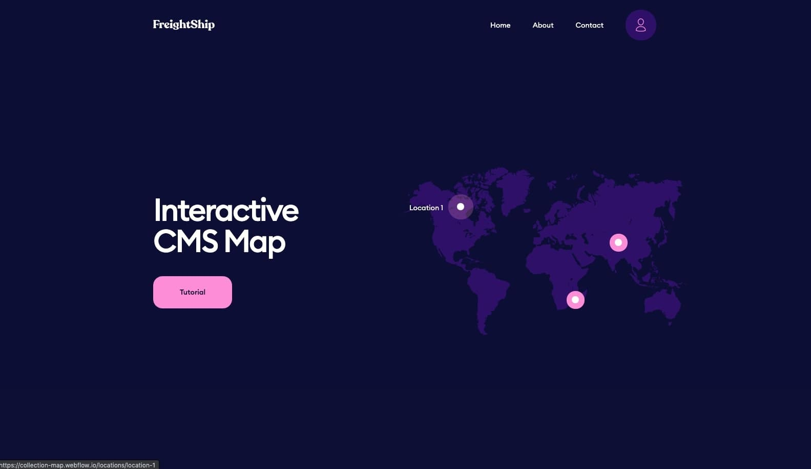 interactive cms map webflow