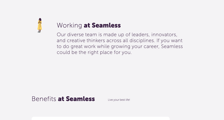 seamless benefits page