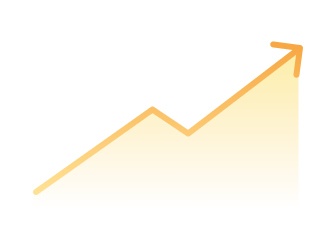 Icon showing an upward trending line graph