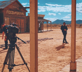 Western set for film locations