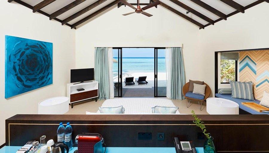 Amari Havodda resort maldive sunset beach villa