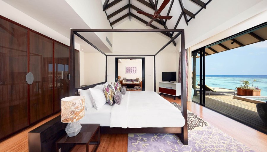 Amari Havodda resort maldive overwater pool villa