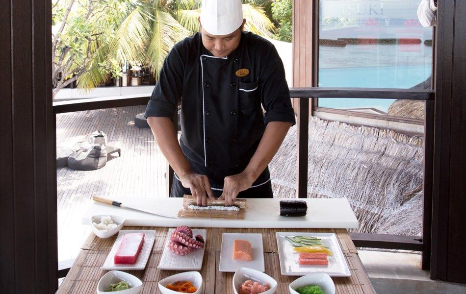 Coco Palm Bodu Hithi resort Maldive ristorante Tsuki