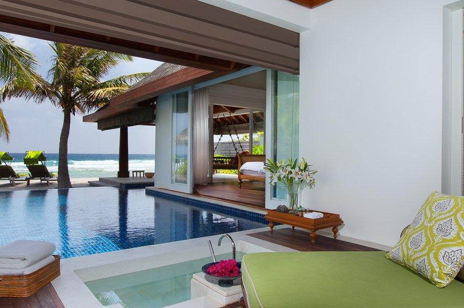 Anantara Naladhu resort Maldive ocean pool villa