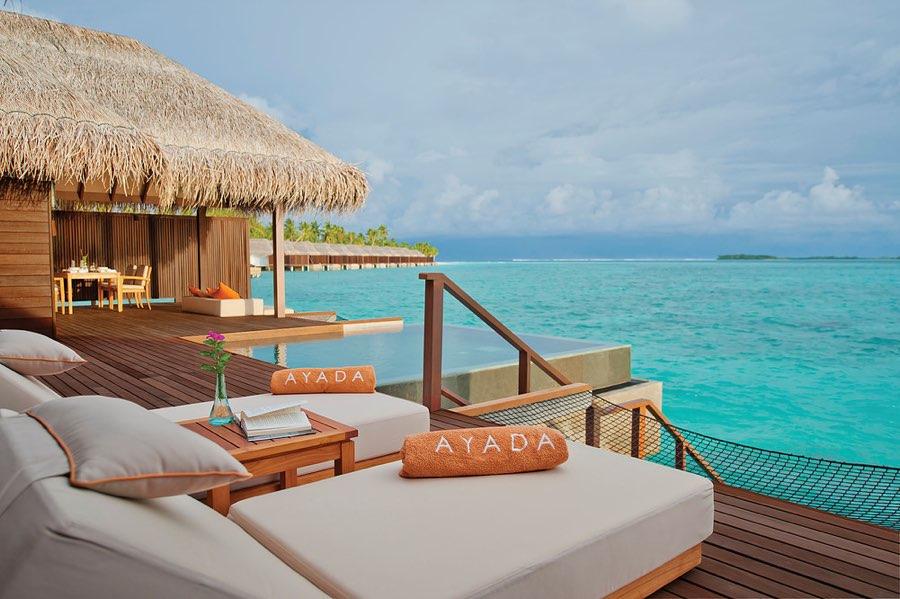 Ayada Maldives resort Maldive sunset ocean family suite